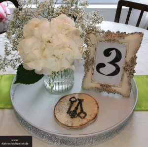 Hochzeitsplanung Details Hochzeitstisch