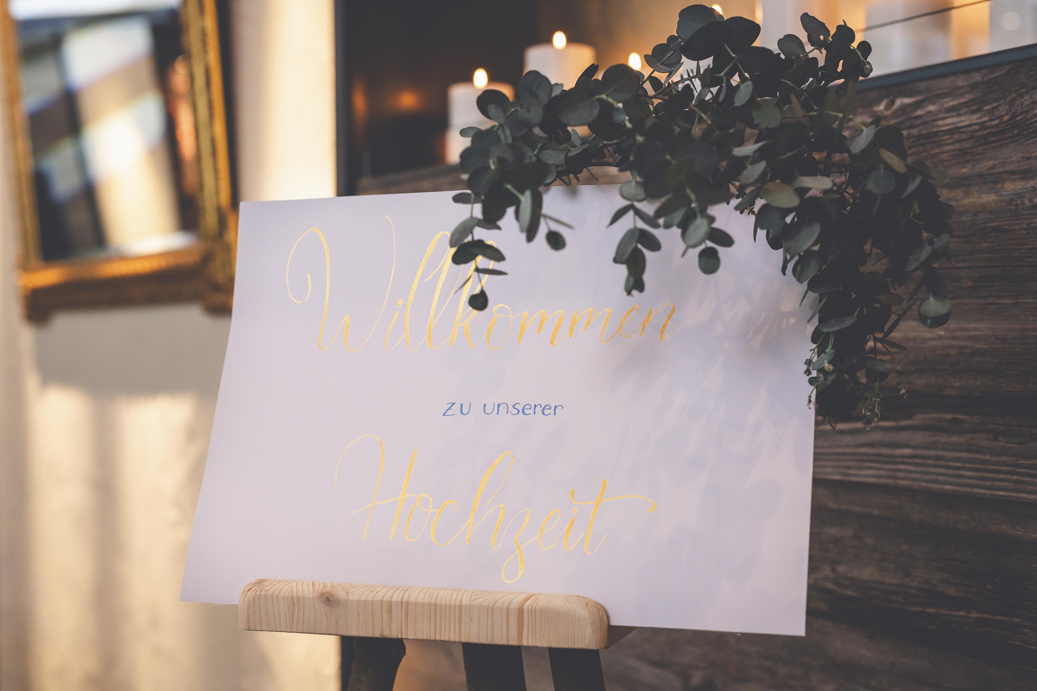 Willkommen zu unserer Hochzeit